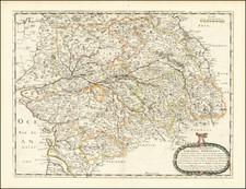 Grand Sud-Ouest and Centre et Pays de la Loire Map By Nicolas Sanson