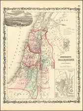 Holy Land Map By Alvin Jewett Johnson  &  Ross C. Browning