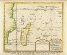 Indian Ocean Map By Pieter de Hondt / J.V. Schley