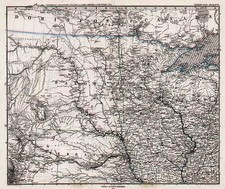 Midwest, Plains and Rocky Mountains Map By Adolf Stieler
