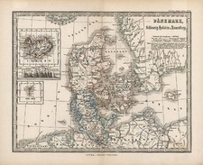 Europe, Scandinavia and Iceland Map By Adolf Stieler