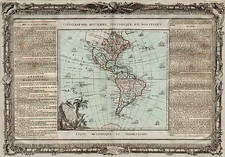 South America and America Map By Louis Brion de la Tour