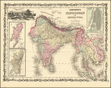 India and Southeast Asia Map By Alvin Jewett Johnson  &  Ross C. Browning