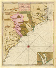 Southeast, North Carolina and South Carolina Map By Pierre Mortier