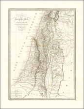 Holy Land Map By Alexandre Emile Lapie