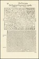 Süddeutschland Map By Sebastian Munster