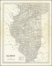Illinois Map By Sidney Morse  &  Samuel Breese