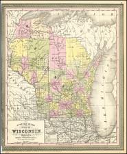Wisconsin Map By Thomas, Cowperthwait & Co.