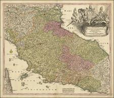 Italy Map By Johann Baptist Homann