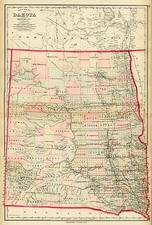 Plains and Canada Map By O.W. Gray