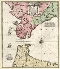 Europe, Spain, Mediterranean, Africa and North Africa Map By Johann Baptist Homann