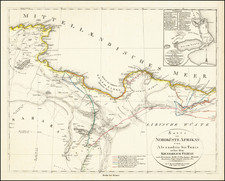 North Africa Map By Carl Ritter