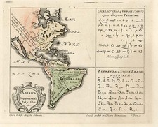 South America and America Map By Homann Heirs / Gottfried Hensel