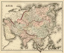 Asia and Asia Map By O.W. Gray