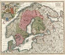 Europe, Russia, Baltic Countries and Scandinavia Map By Matthaus Seutter
