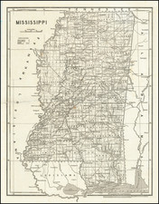 Mississippi Map By Sidney Morse  &  Samuel Breese