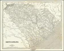 South Carolina Map By Sidney Morse  &  Samuel Breese