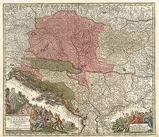 Europe, Hungary, Romania and Balkans Map By Matthaus Seutter