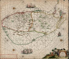 Asia and India Map By Hendrik Doncker