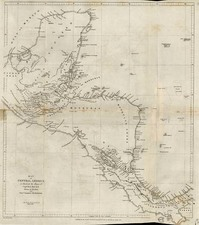 Mexico and Central America Map By John Arrowsmith / Royal Geographical Society