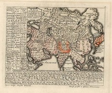 Asia and Asia Map By Homann Heirs / Gottfried Hensel