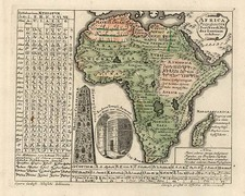 Africa and Africa Map By Homann Heirs / Gottfried Hensel