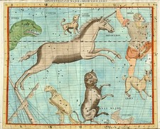 World, Curiosities and Celestial Maps Map By John Flamsteed