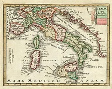 Europe, Italy and Balearic Islands Map By Adam Friedrich Zurner / Johann Christoph Weigel
