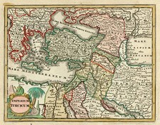 Europe, Turkey, Mediterranean, Balearic Islands, Asia and Middle East Map By Adam Friedrich Zurner / Johann Christoph Weigel