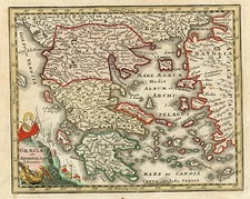 Europe, Greece, Turkey and Balearic Islands Map By Adam Friedrich Zurner / Johann Christoph Weigel