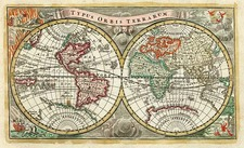 World and World Map By Adam Friedrich Zurner / Johann Christoph Weigel