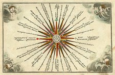 World, Curiosities and Celestial Maps Map By Adam Friedrich Zurner / Johann Christoph Weigel