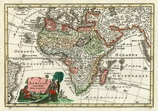 Africa and Africa Map By Adam Friedrich Zurner / Johann Christoph Weigel