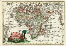 Africa and Africa Map By Adam Friedrich Zurner / Johann Christoph Weigel