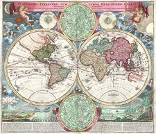 World, World, Curiosities and Celestial Maps Map By Johann Baptist Homann