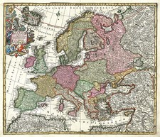 Europe and Europe Map By Matthaus Seutter