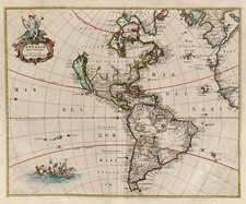 South America and America Map By Clement de Jonghe