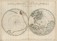 World, World, Polar Maps and Canada Map By Nicolas Sanson