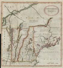 New England Map By William Gordon