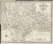 Texas and Southwest Map By C.E. Cheffins