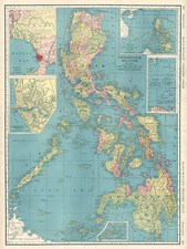 Asia and Philippines Map By Rand McNally & Company
