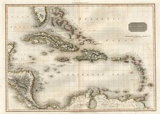 Southeast, Caribbean and Central America Map By John Pinkerton