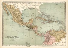 Mexico, Caribbean and Central America Map By T. Ellwood Zell