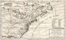 United States and Canada Map By Pierre Antoine Tardieu