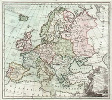 Europe and Europe Map By Louis Brion de la Tour
