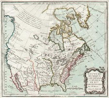 United States, Southwest, Alaska and Canada Map By Louis Brion de la Tour