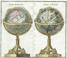World, Curiosities and Celestial Maps Map By Louis Brion de la Tour