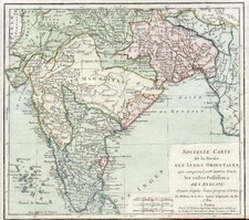 Asia and India Map By Louis Brion de la Tour