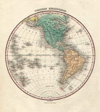 World, Western Hemisphere, South America and America Map By Anthony Finley