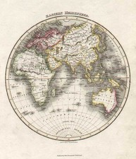 World and Eastern Hemisphere Map By John Thomson